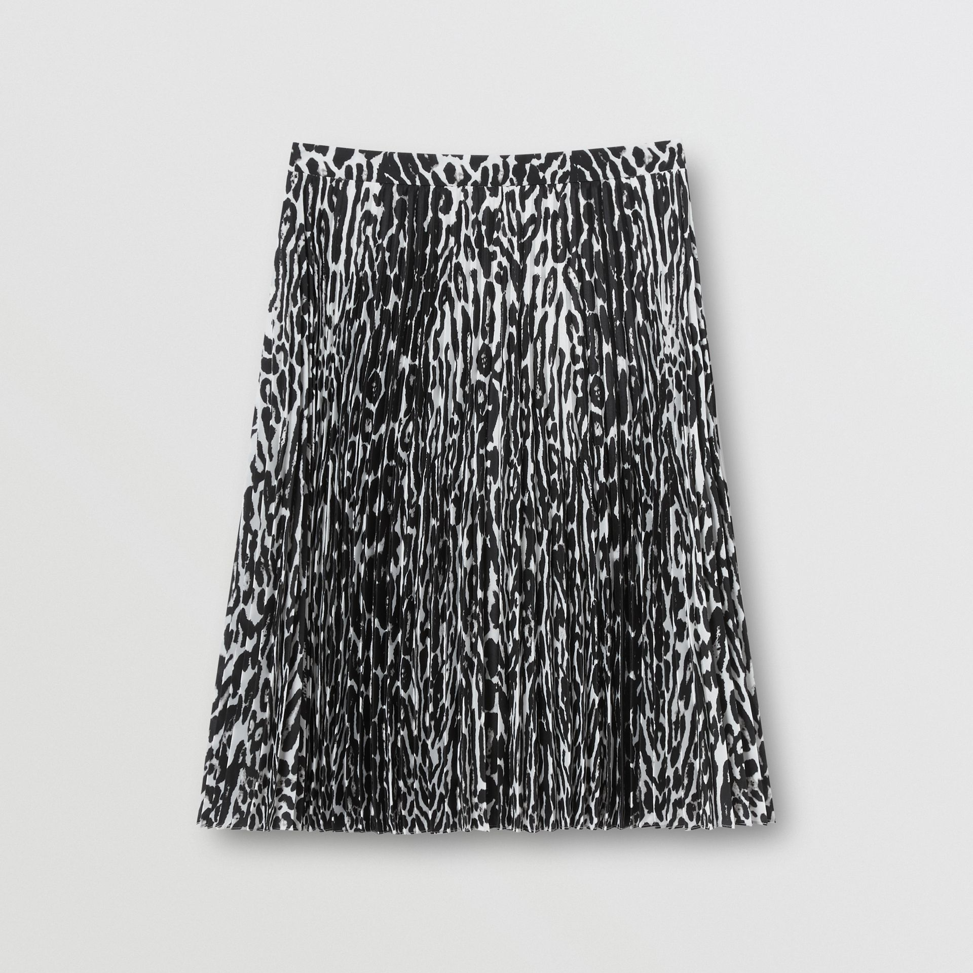 Leopard Print Pleated Skirt in Black - Women | Burberry - gallery image 3