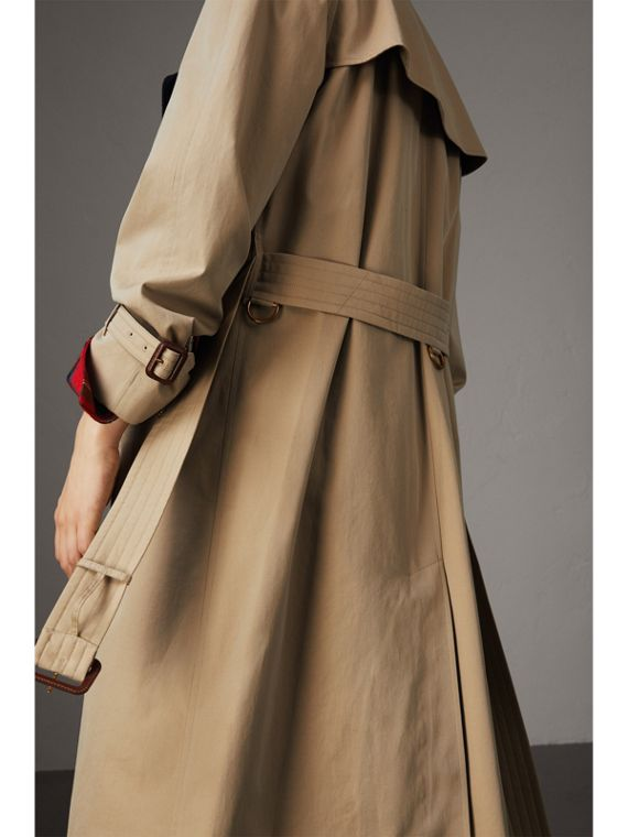 Tropical Gabardine Trench Coat with Detachable Facing in Honey - Women | Burberry - cell image 2