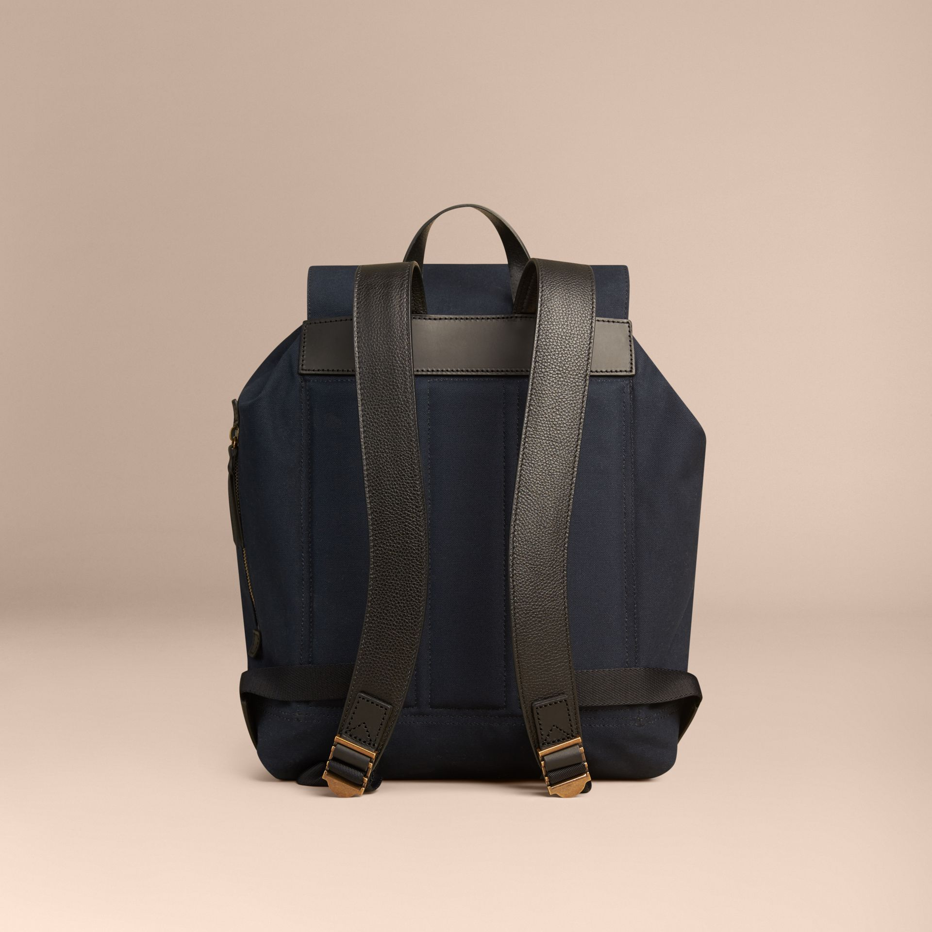 Deep navy Cotton Canvas Backpack - gallery image 4