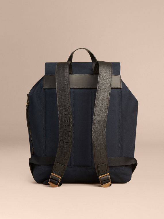 Deep navy Cotton Canvas Backpack - cell image 3