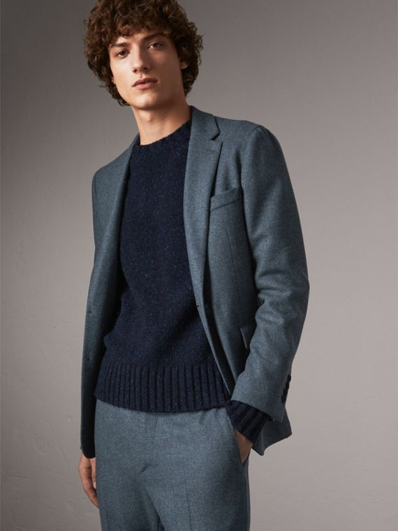 Soho Fit Shetland Wool Tailored Jacket in Dark Airforce Blue