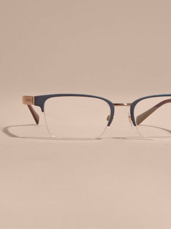 Navy scuro Montatura da vista rettangolare semi-rimless Navy Scuro - cell image 2