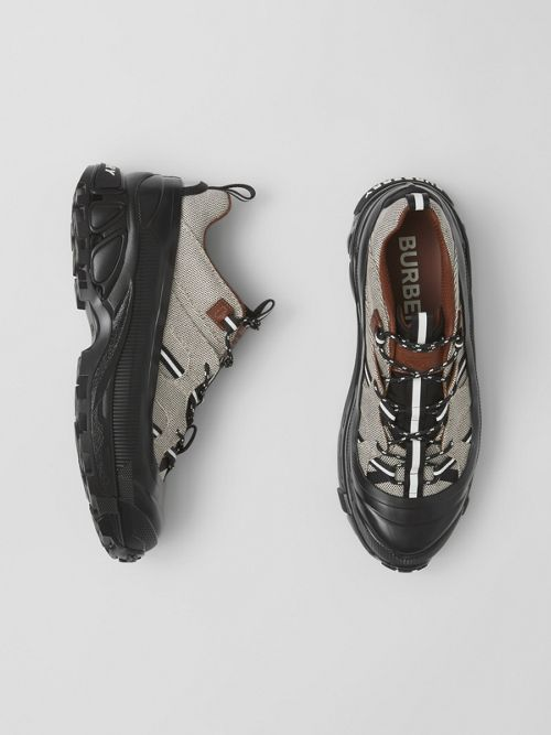 Burberry Cotton Canvas and Nylon Arthur Sneakers