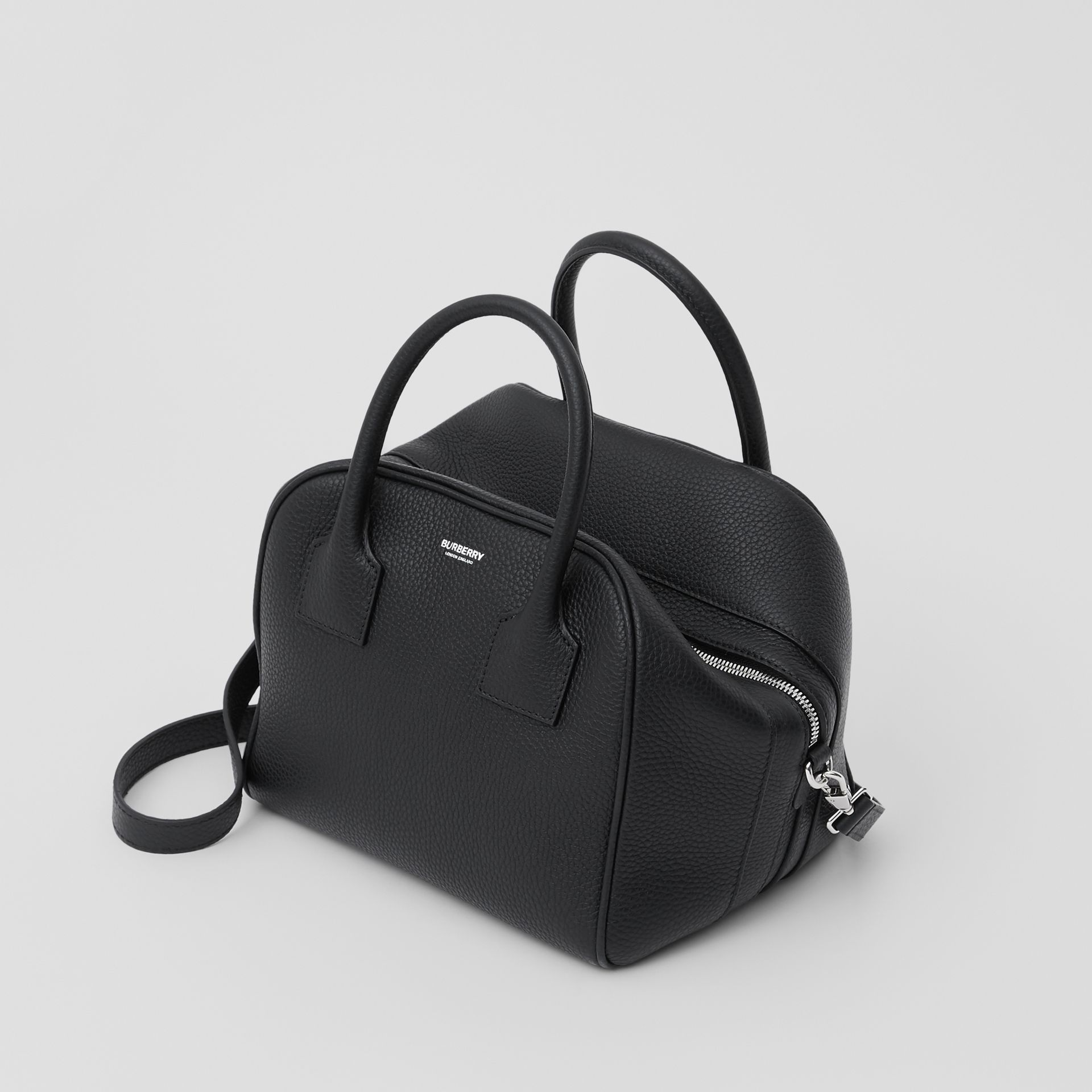 Small Leather Cube Bag in Black - Women | Burberry - gallery image 2