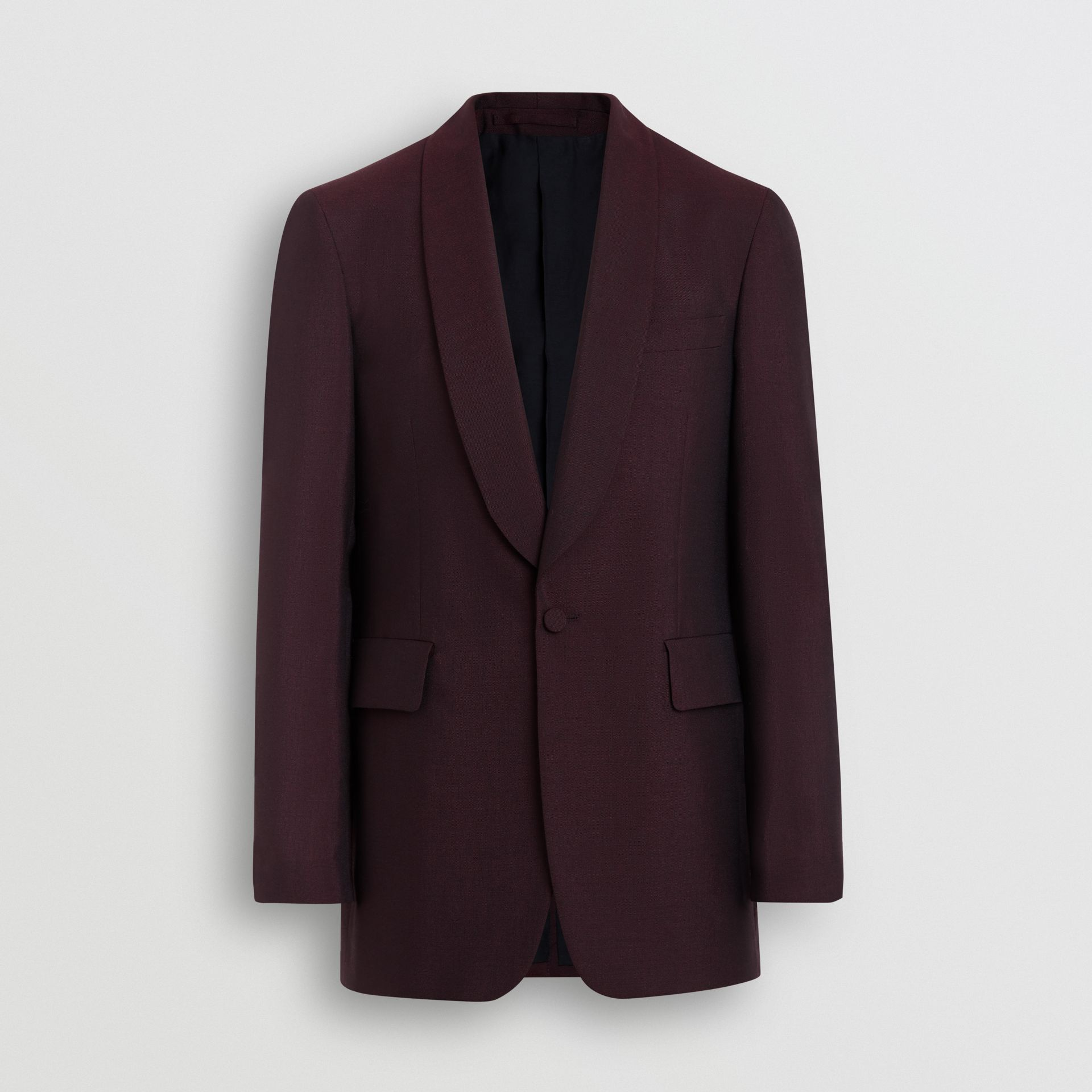 Classic Fit Mohair Evening Jacket in Deep Burgundy - Men | Burberry - gallery image 3