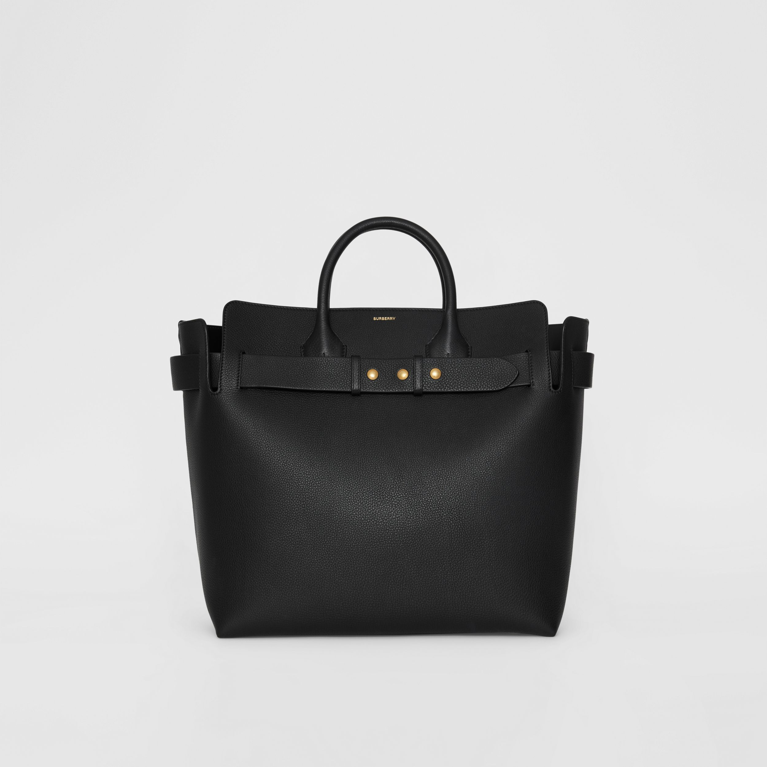 The Large Leather Triple Stud Belt Bag in Black - Women | Burberry - 1