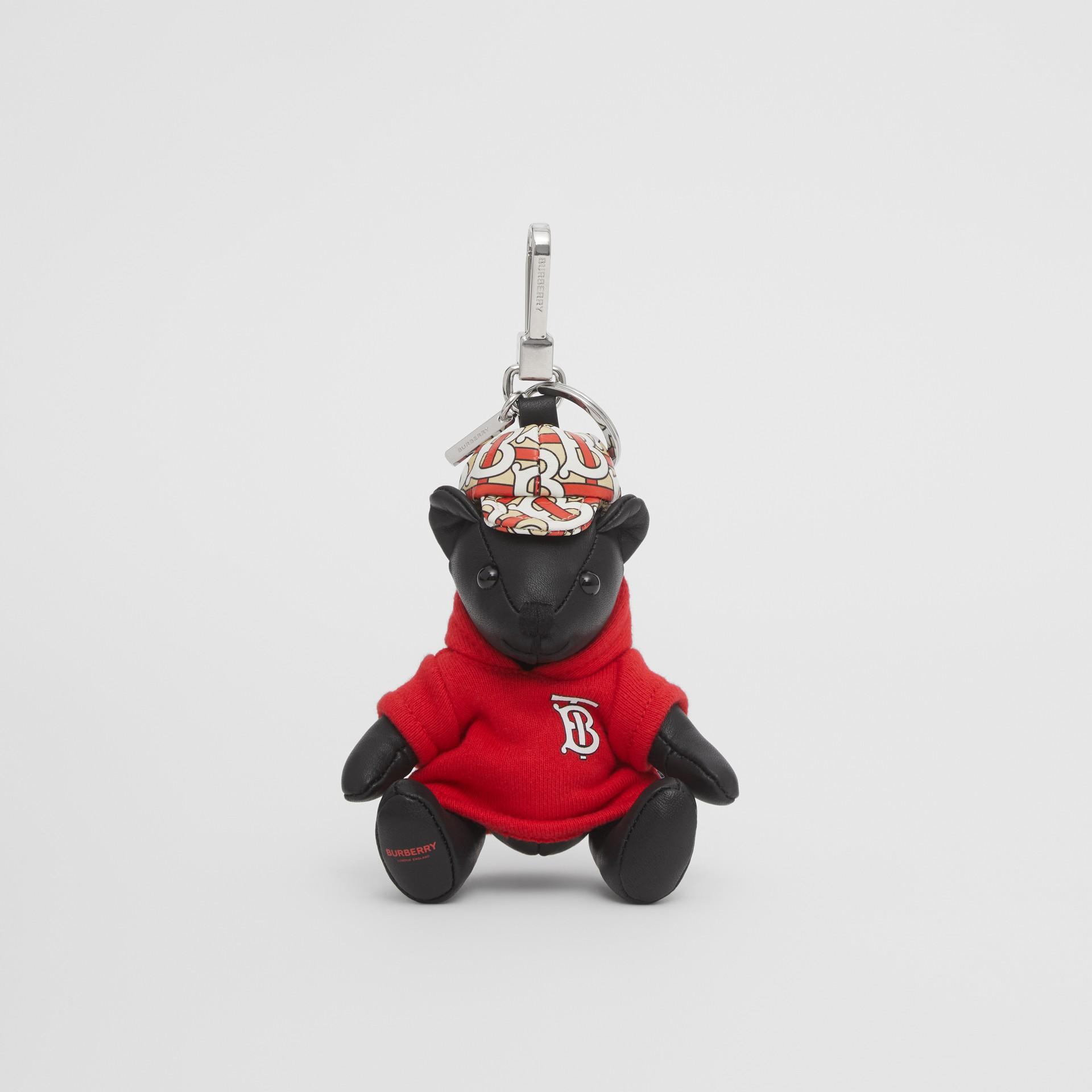 Брелок: медвежонок Томас в худи с монограммой Burberry (Черный / Красный) - Для женщин | Burberry - изображение 2