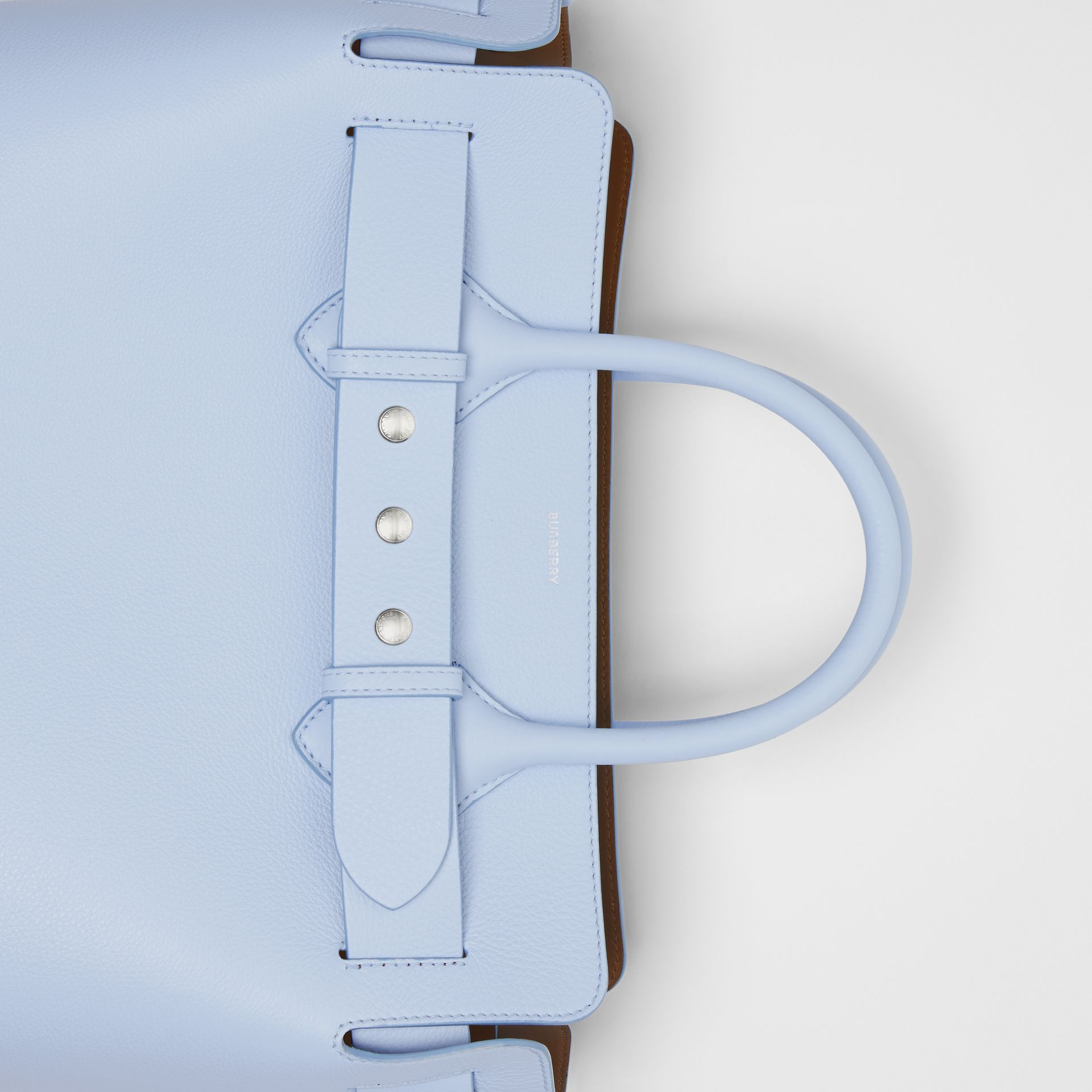 The Medium Leather Triple Stud Belt Bag in Pale Blue - Women | Burberry Singapore - gallery image 1