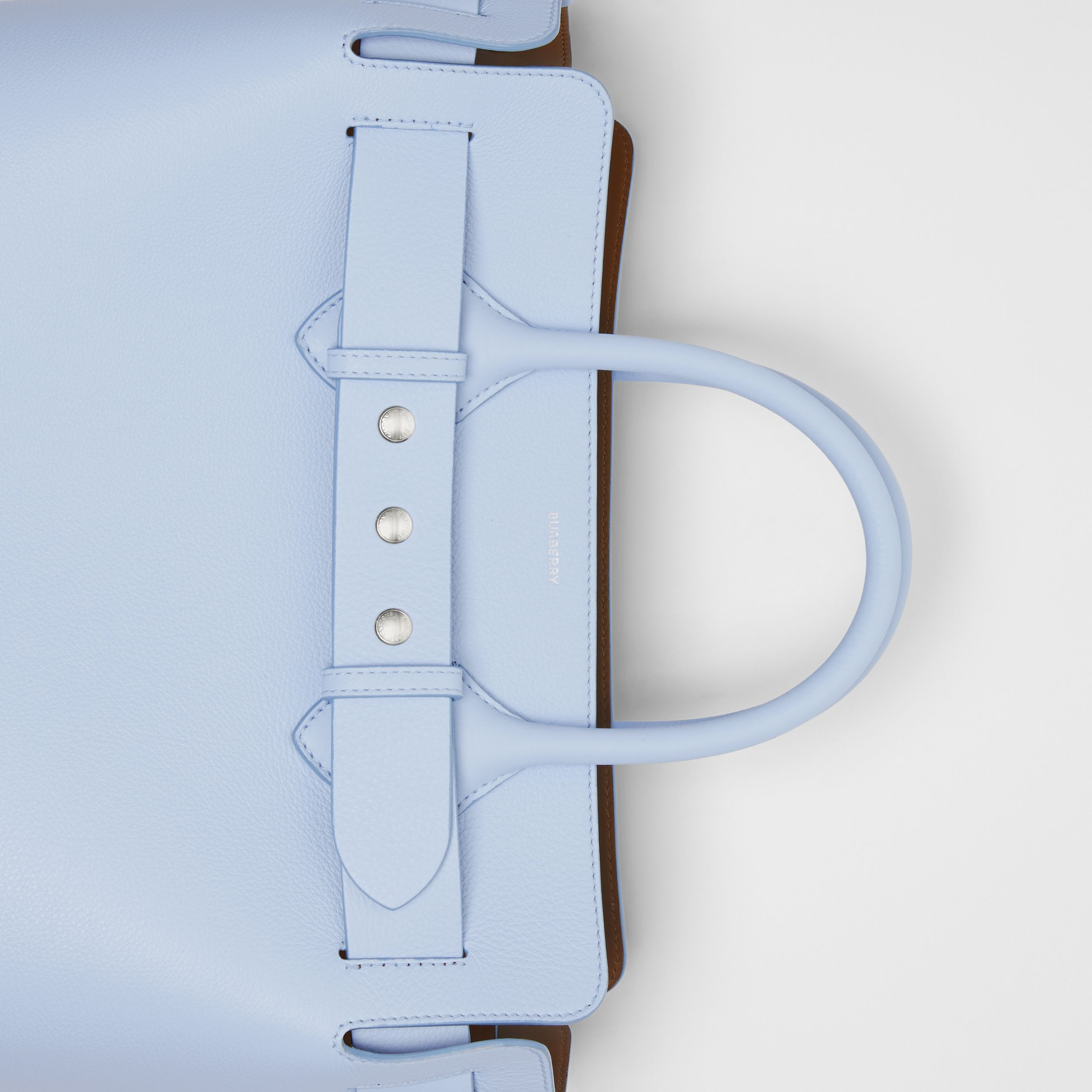 The Medium Leather Triple Stud Belt Bag in Pale Blue - Women | Burberry - 2