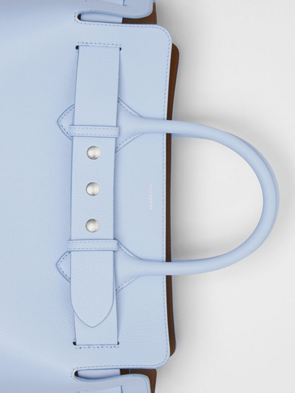 The Medium Leather Triple Stud Belt Bag in Pale Blue - Women | Burberry Singapore - cell image 1