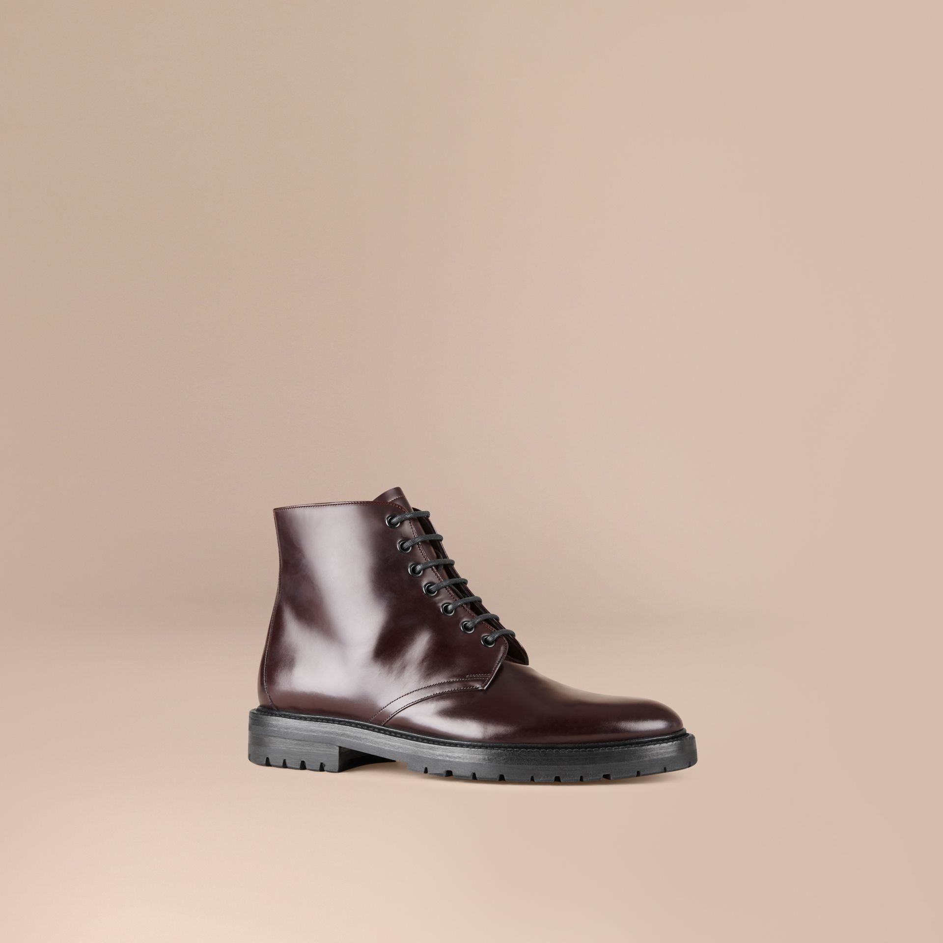 Oxblood Lace-up Leather Boots Oxblood - gallery image 1