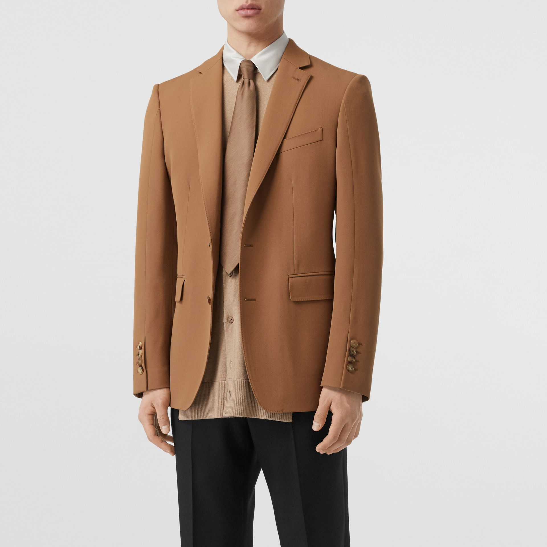 Camel Hair Coat with Detachable Wool Jacket in Warm - Men | Burberry - gallery image 4