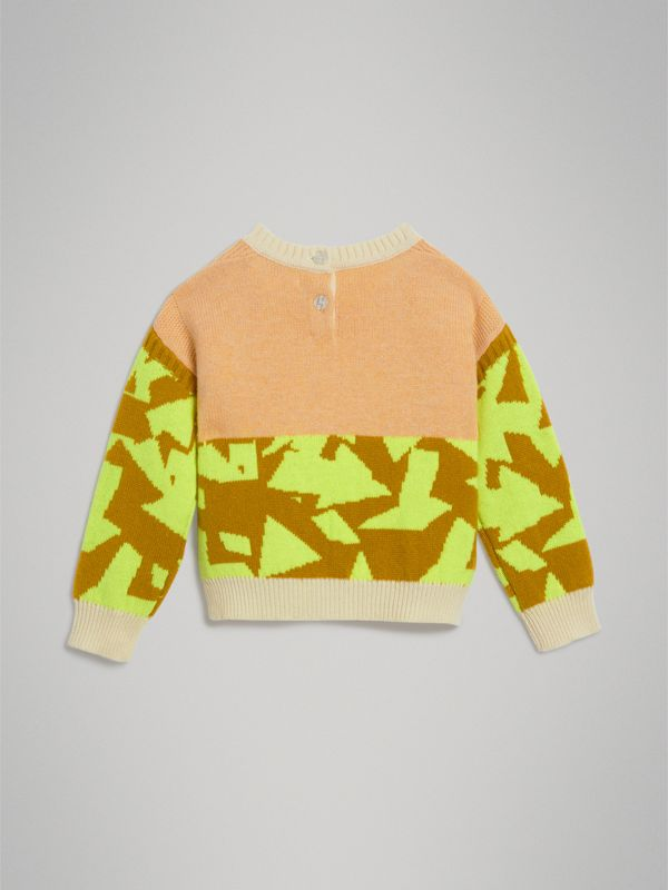 Kaschmirpullover mit Monstermotiv in Intarsienoptik (Orange) | Burberry - cell image 3