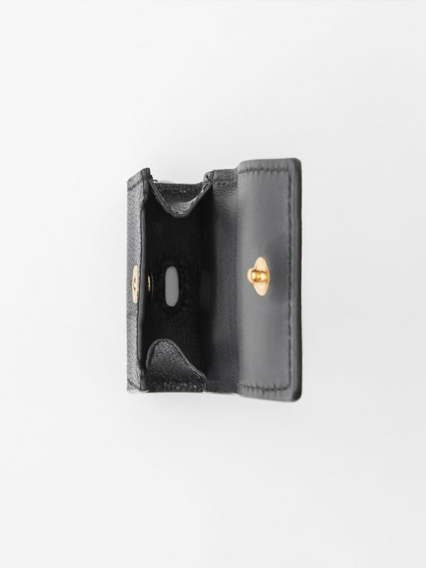 Grainy Leather Earphone Case in Black | Burberry - cell image 2