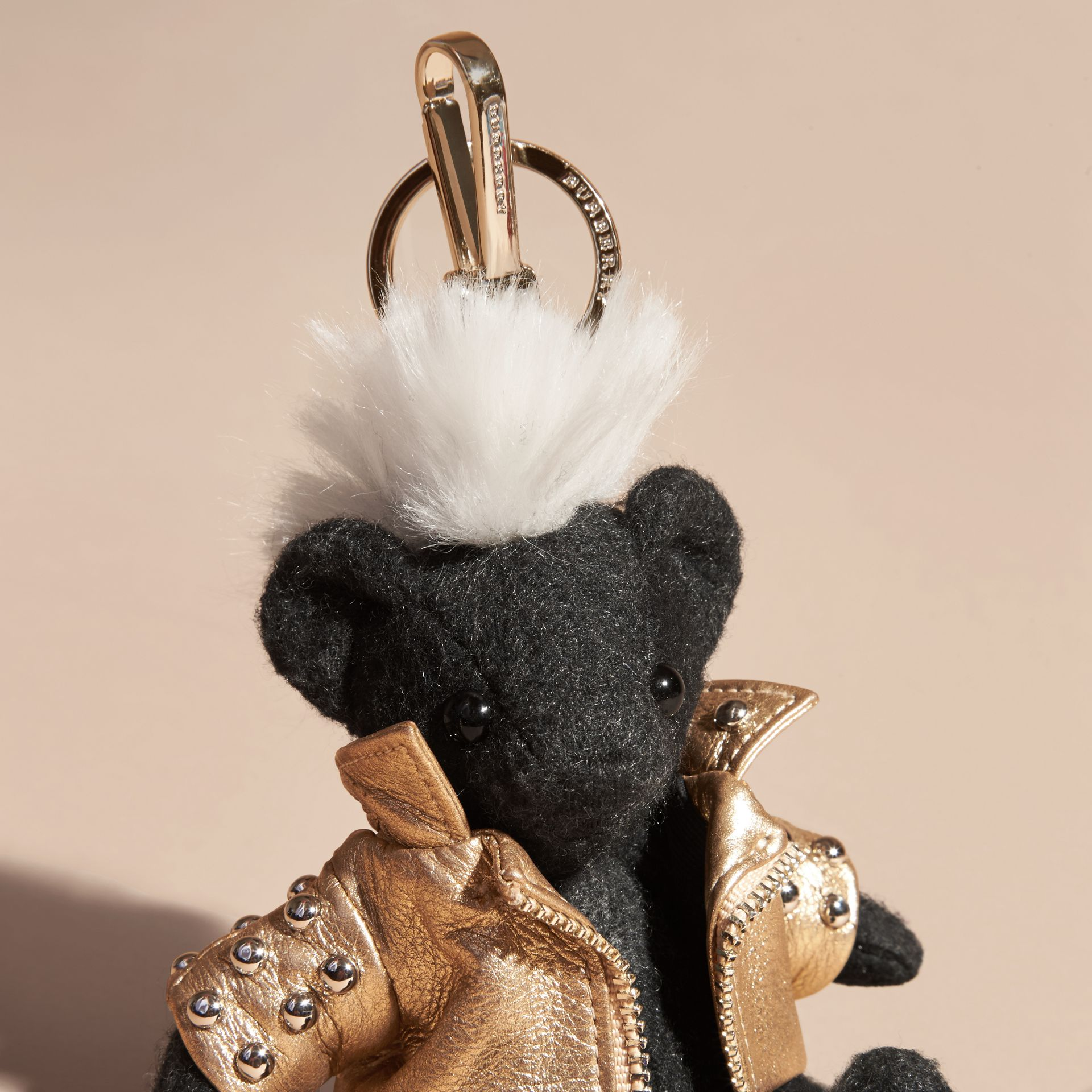 Bijou porte-clés Thomas Bear Punk (Anthracite) | Burberry - photo de la galerie 4