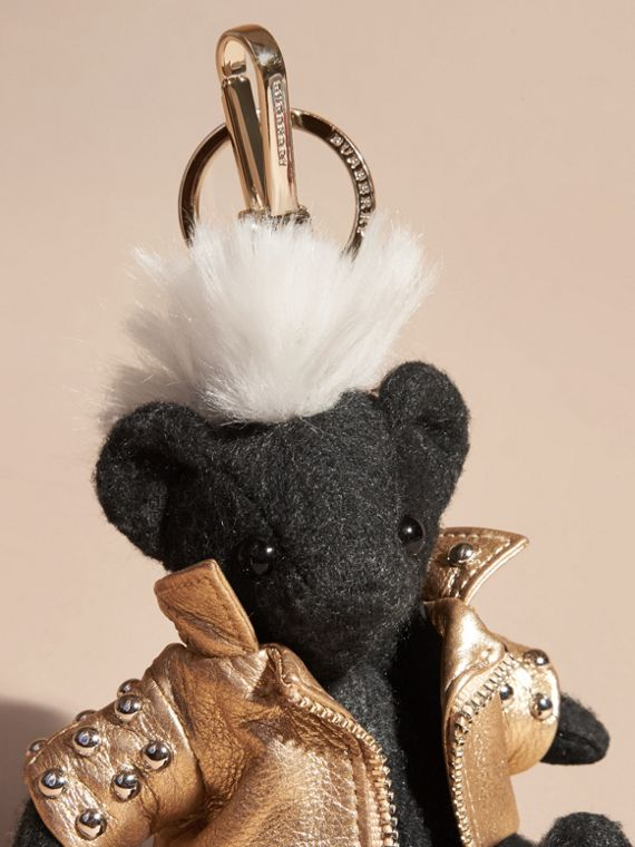 Bijou porte-clés Thomas Bear Punk (Anthracite) | Burberry - cell image 3