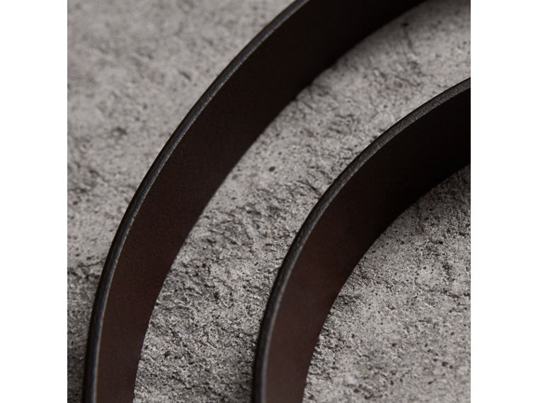 Smooth Leather Belt in Bitter Chocolate - Men | Burberry - cell image 1