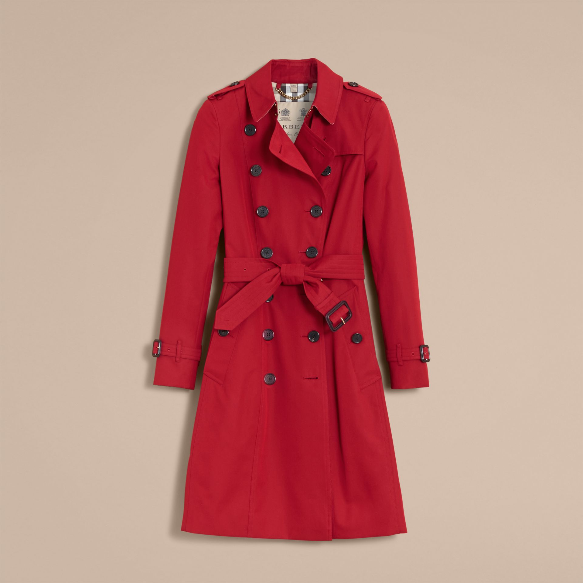 Parade red The Chelsea – Long Heritage Trench Coat Parade Red - gallery image 5