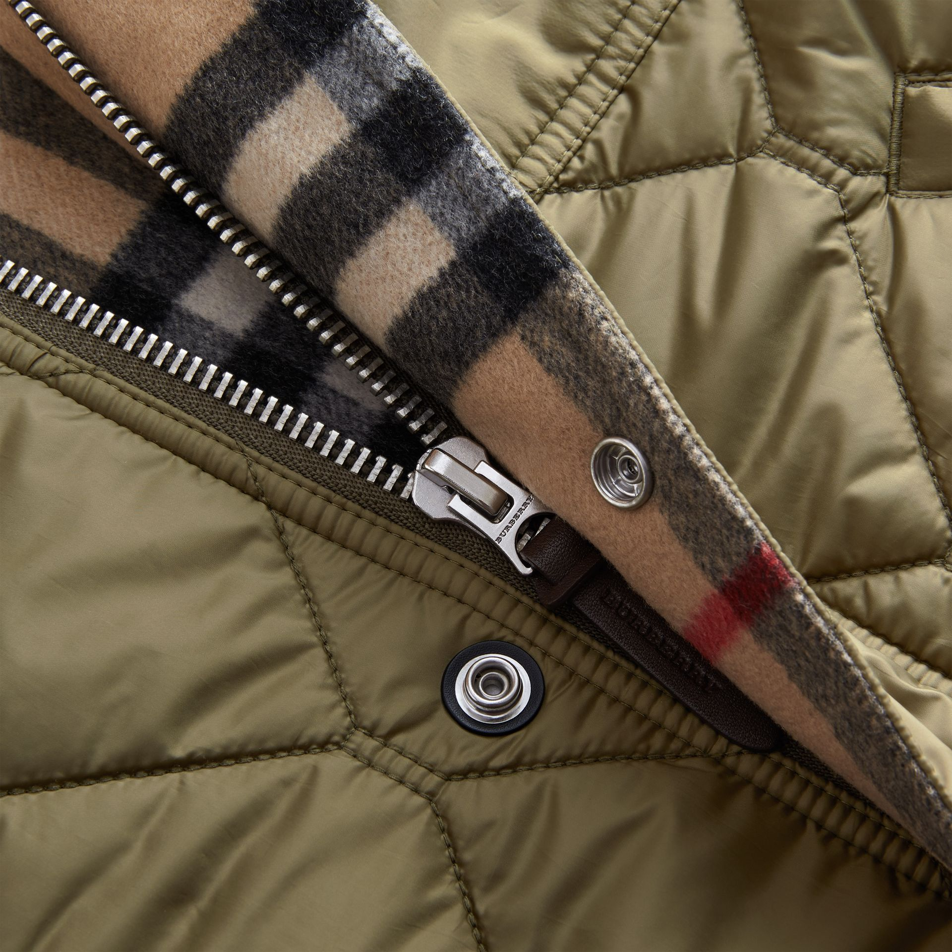Quilted Bomber Jacket in Khaki - Men | Burberry - gallery image 2