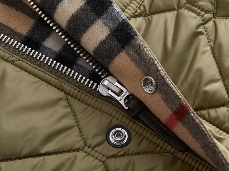 Quilted Bomber Jacket in Khaki - Men | Burberry - cell image 1