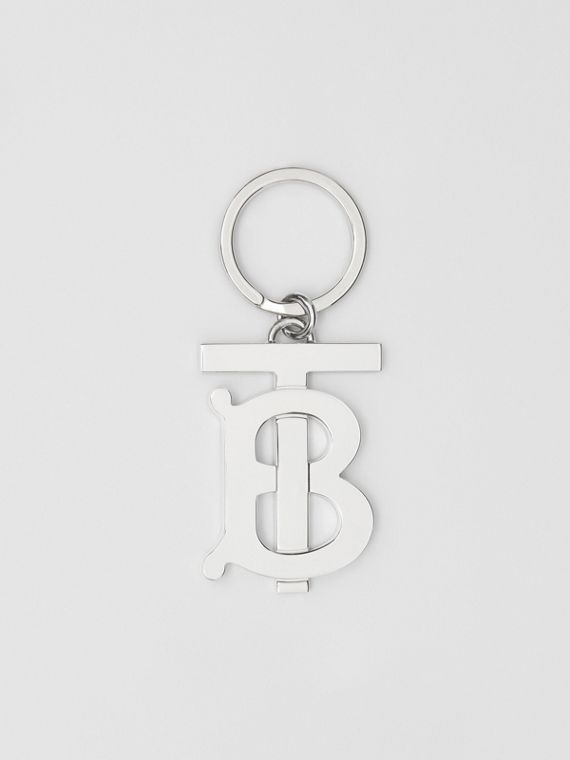 Брелок для ключей с покрытием из палладия и монограммой (Серебристый)