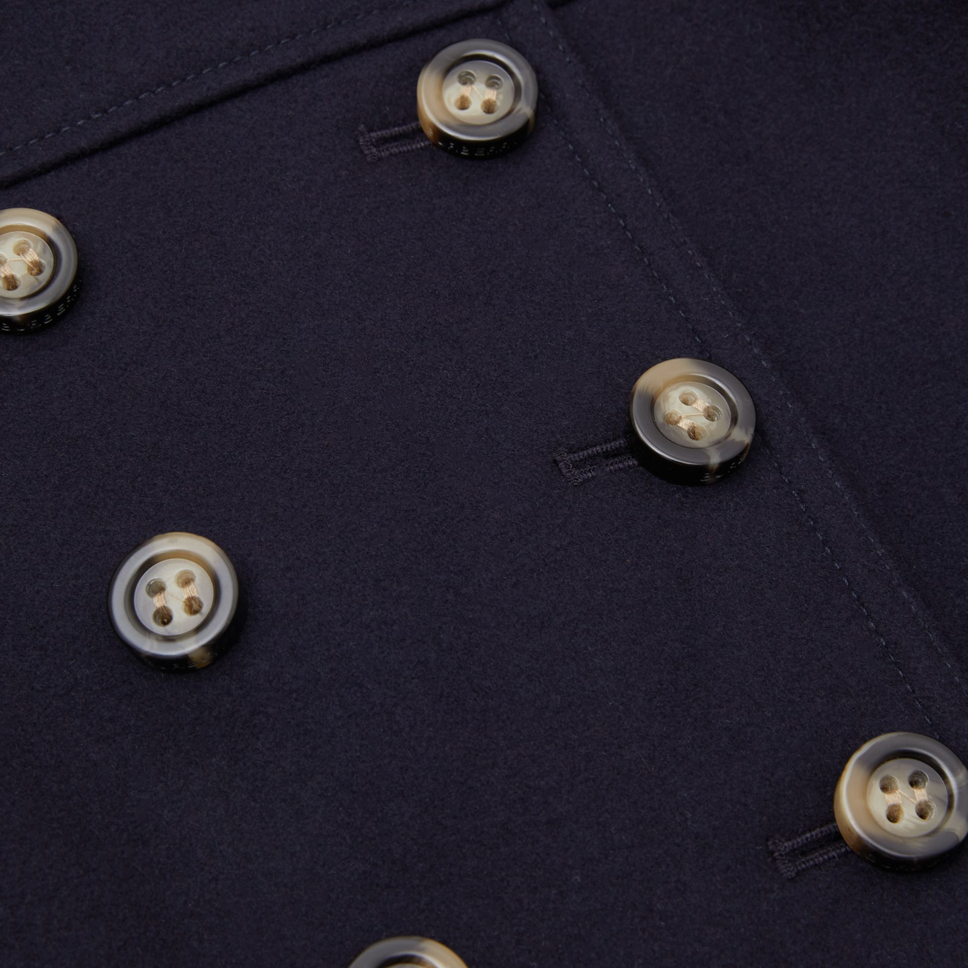 Melton Wool Tailored Pea Coat in Navy - Children | Burberry - gallery image 1