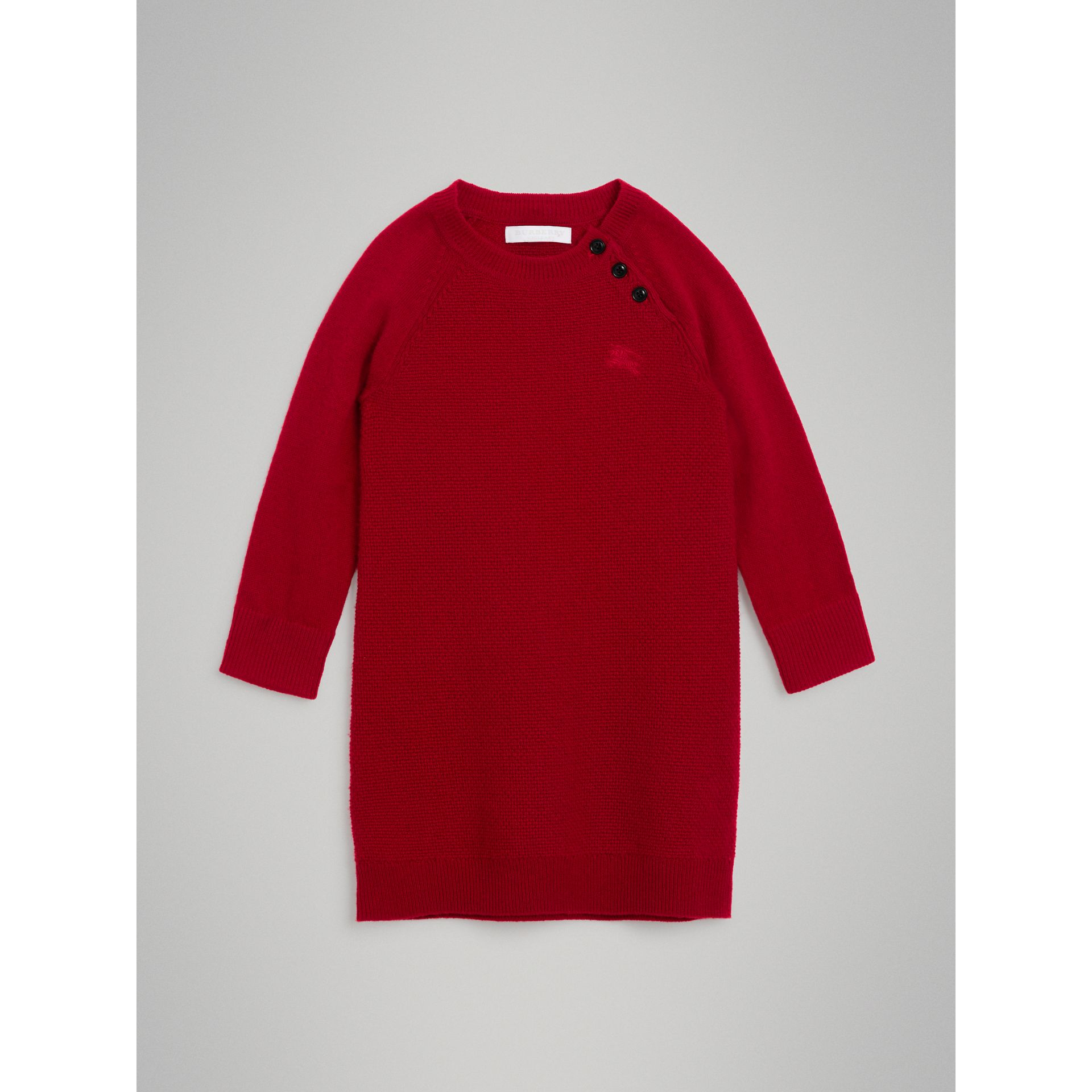 Cashmere Sweater Dress in Parade Red - Girl | Burberry United Kingdom - gallery image 0