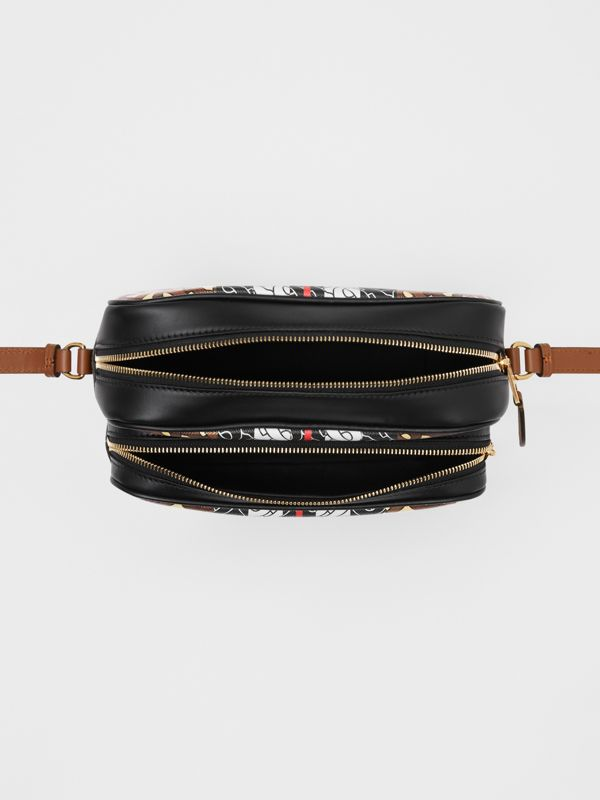 Medium Monogram Stripe E-canvas Camera Bag in Bridle Brown | Burberry United Kingdom - cell image 3
