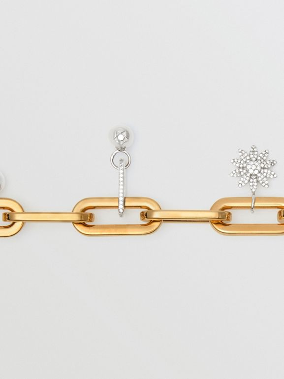 Crystal Charm Gold and Palladium-plated Bracelet in Light Gold/palladio - Women | Burberry Canada - cell image 1