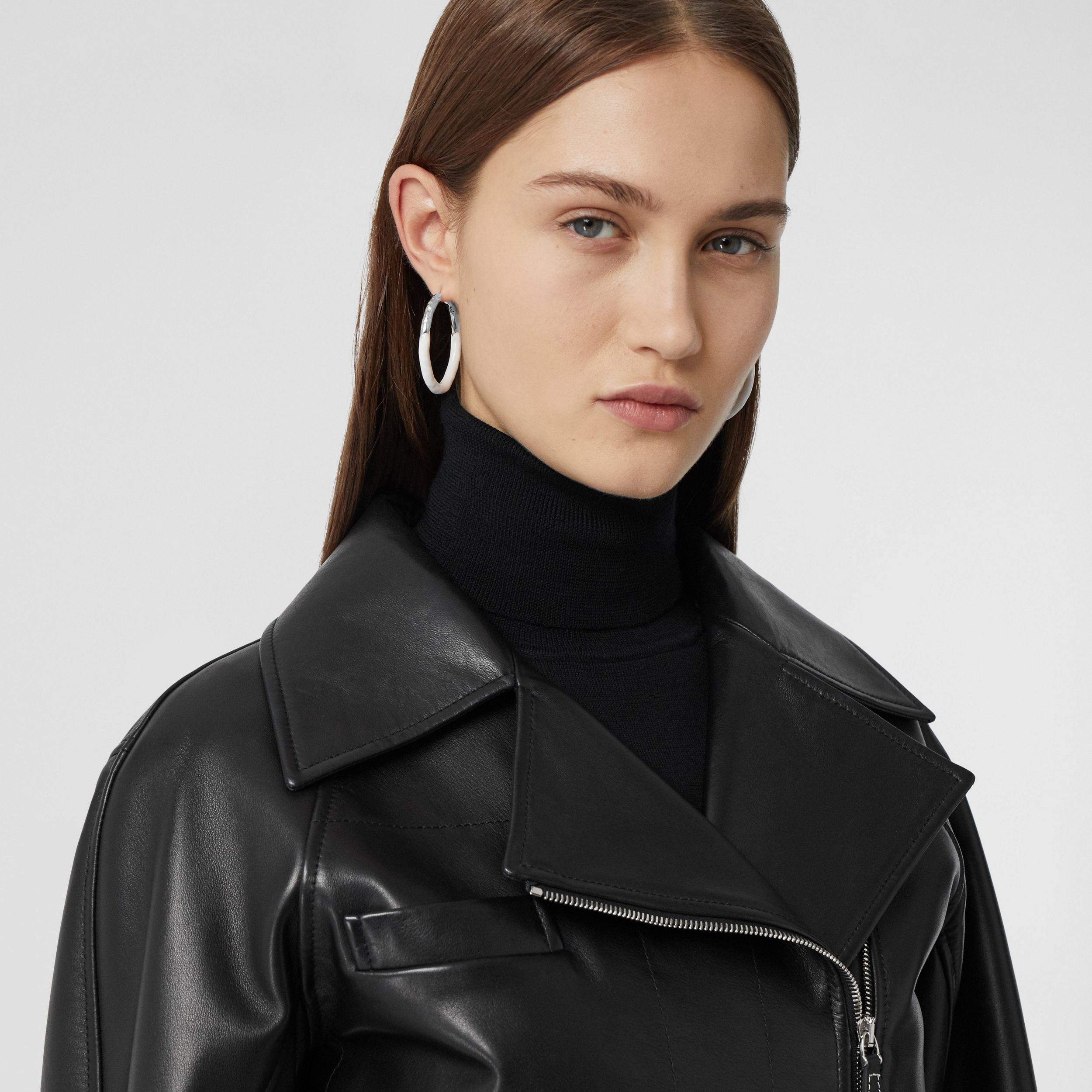 Lambskin Biker Jacket - Women | Burberry Singapore - 2