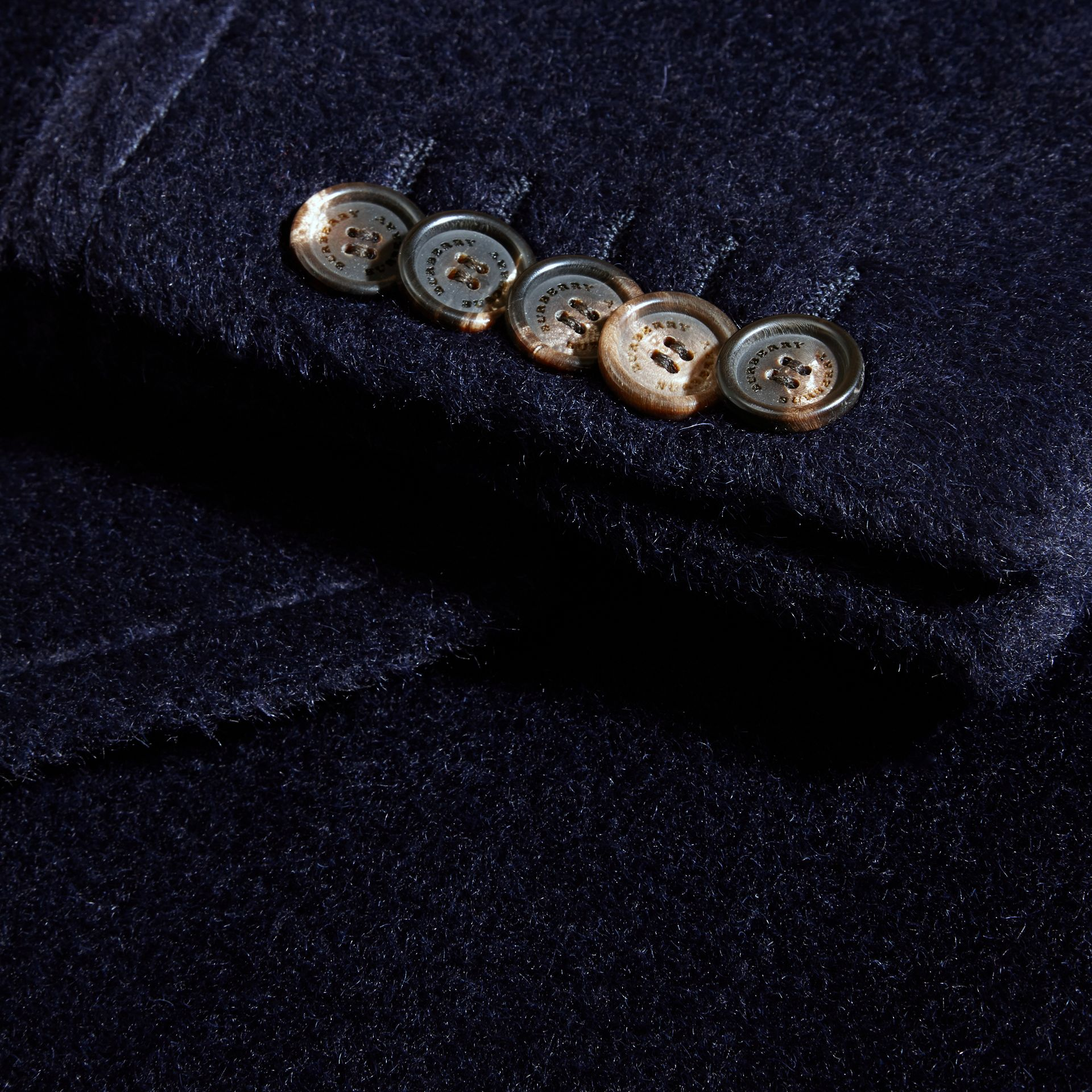 Navy black Alpaca Wool Overcoat - gallery image 2