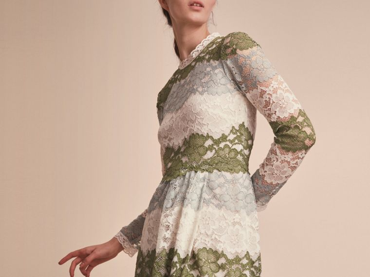 Floor-length Floral Lace Dress - cell image 4