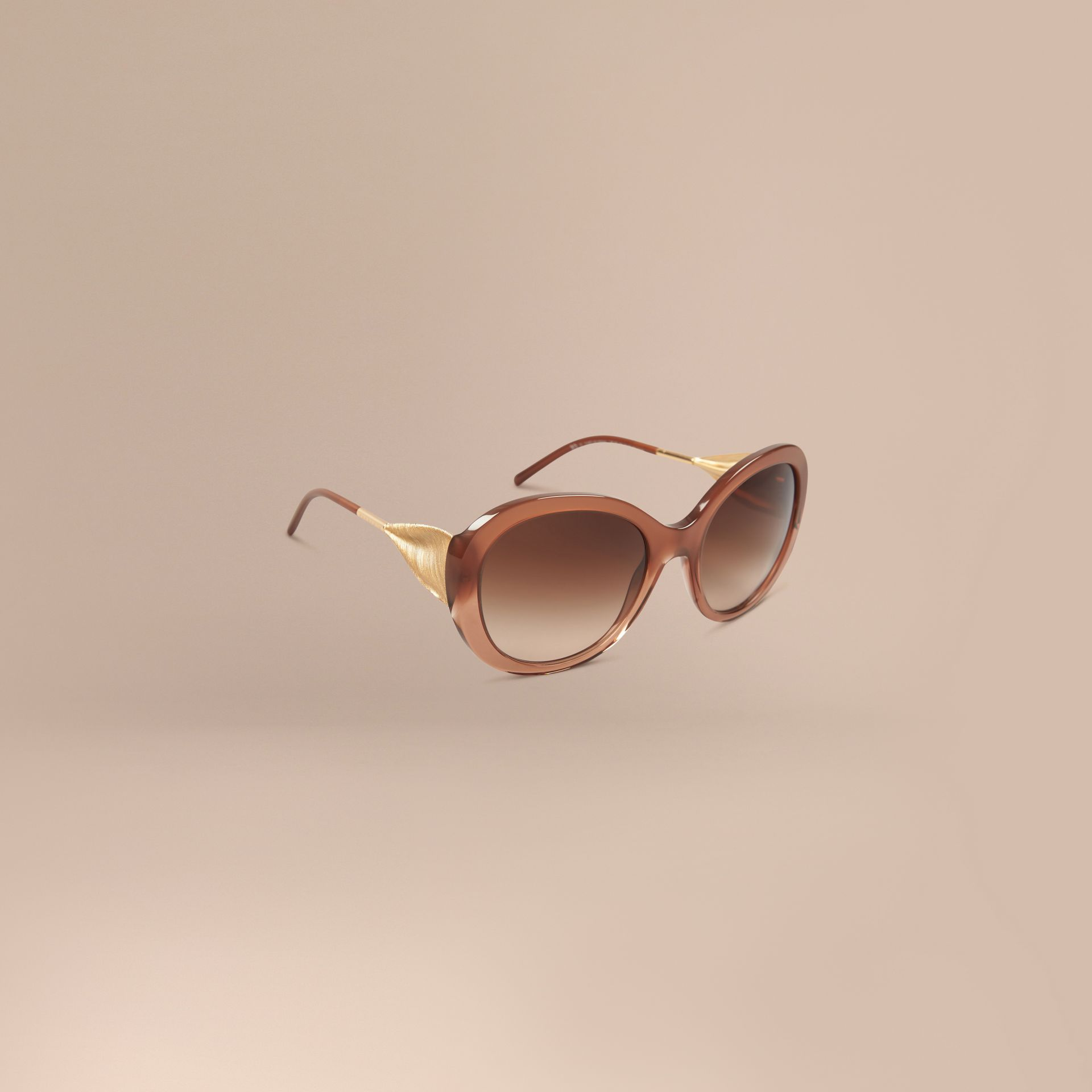 Fawn pink Oversize Round Frame Sunglasses Fawn Pink - gallery image 1