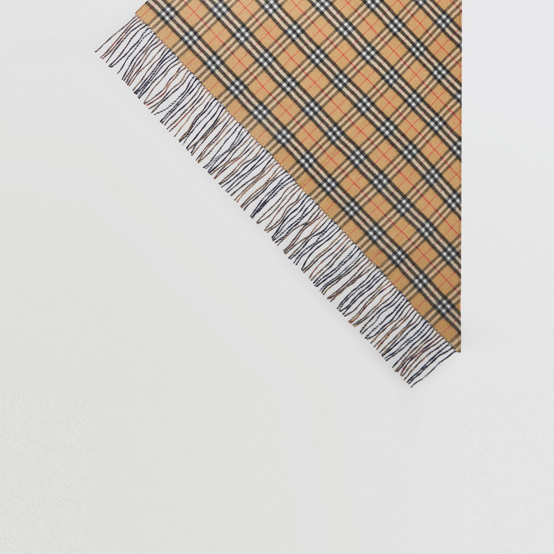 The Burberry Bandana in Vintage Check Cashmere in Blue Carbon | Burberry - gallery image 4