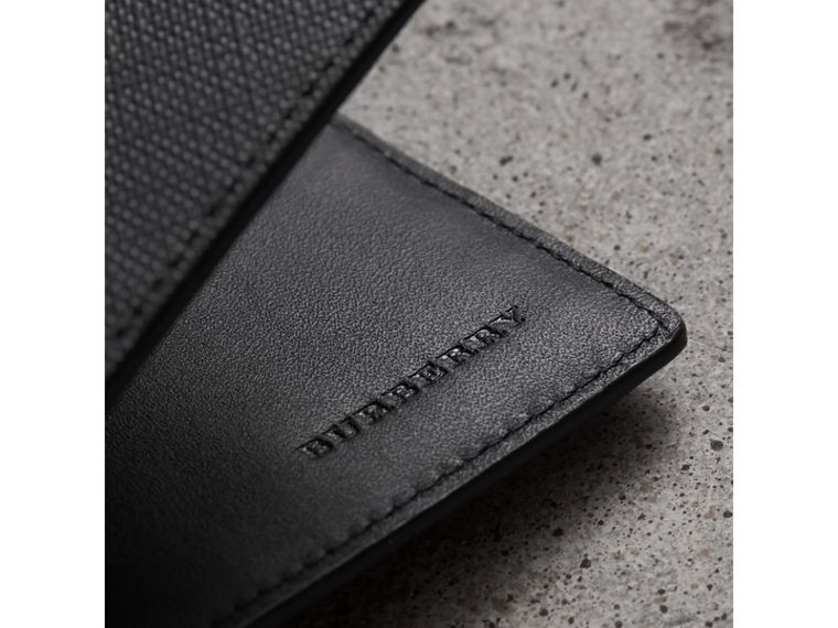 London Check Folding Wallet in Charcoal/black - Men | Burberry Australia - cell image 1