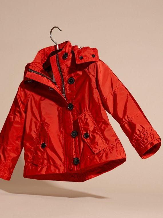 Military red Technical Jacket with Hood - cell image 2