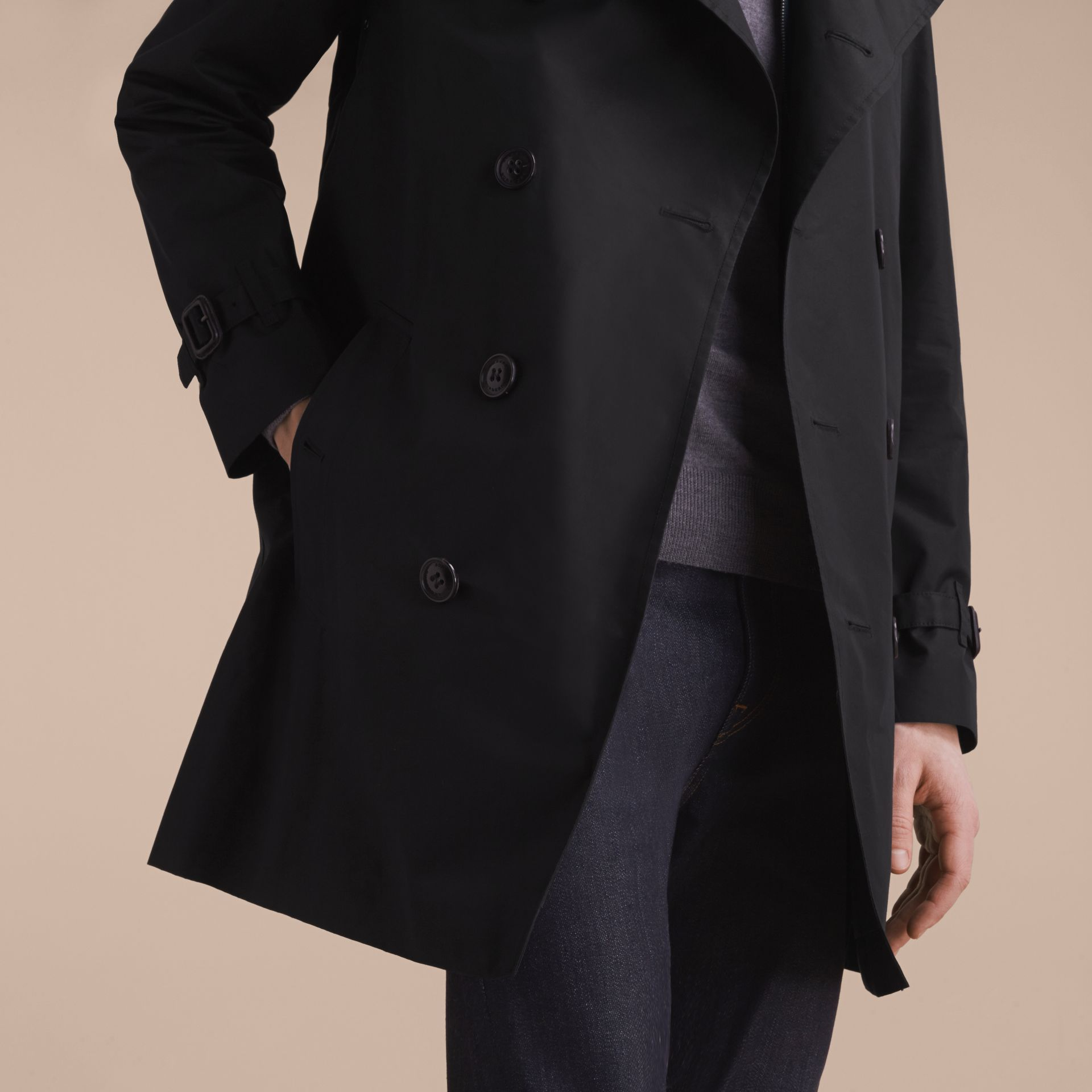 Showerproof Technical Trench Coat with Detachable Gilet - gallery image 5