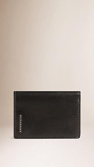 London Leather Folding Card Case