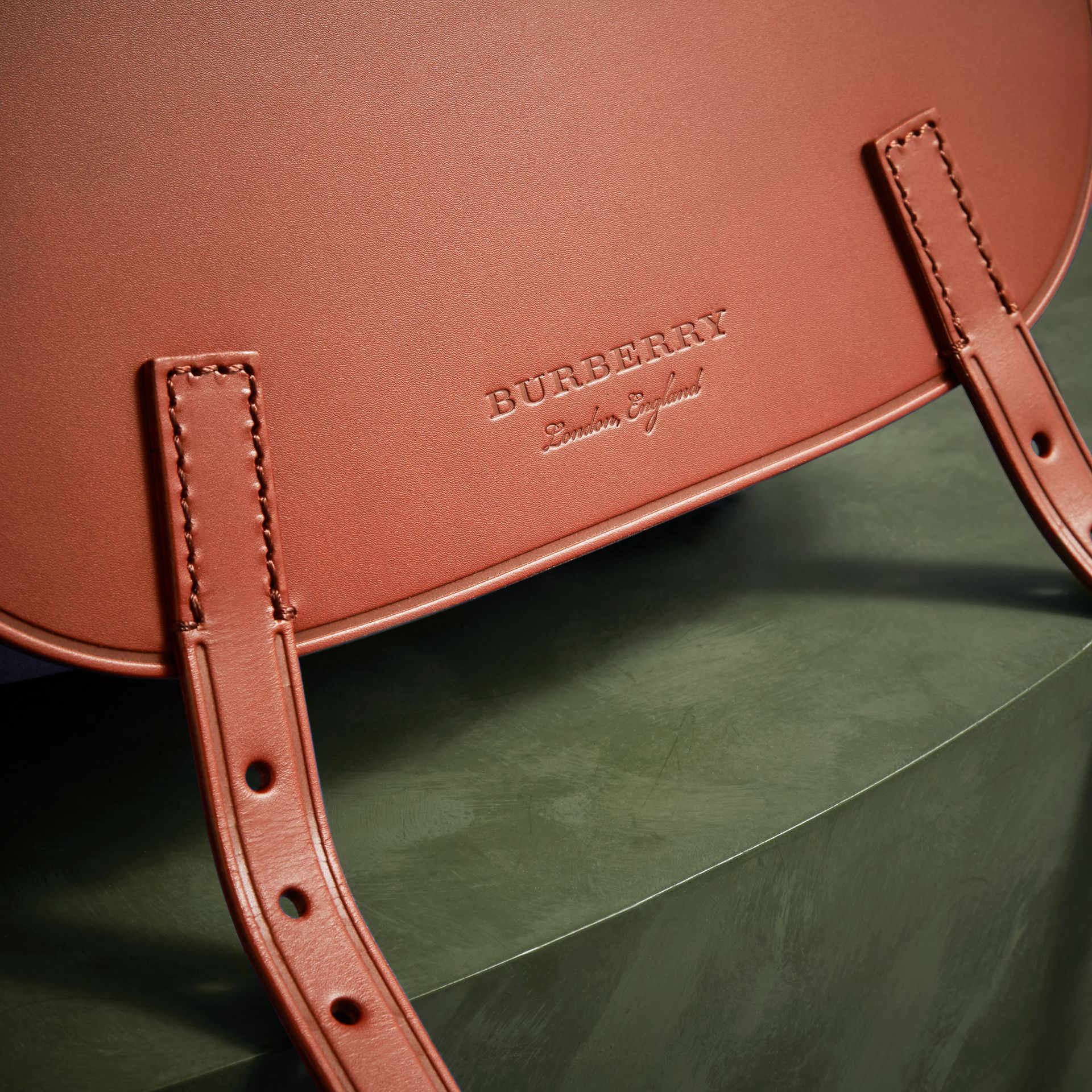 The Small Bridle Bag in Leather and Suede in Tan - Men | Burberry - gallery image 2
