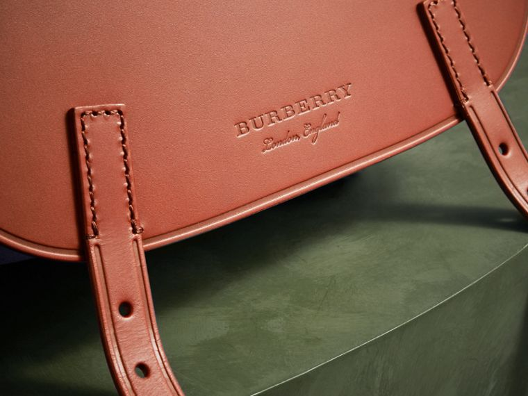 The Small Bridle Bag in Leather and Suede in Tan - Men | Burberry - cell image 1