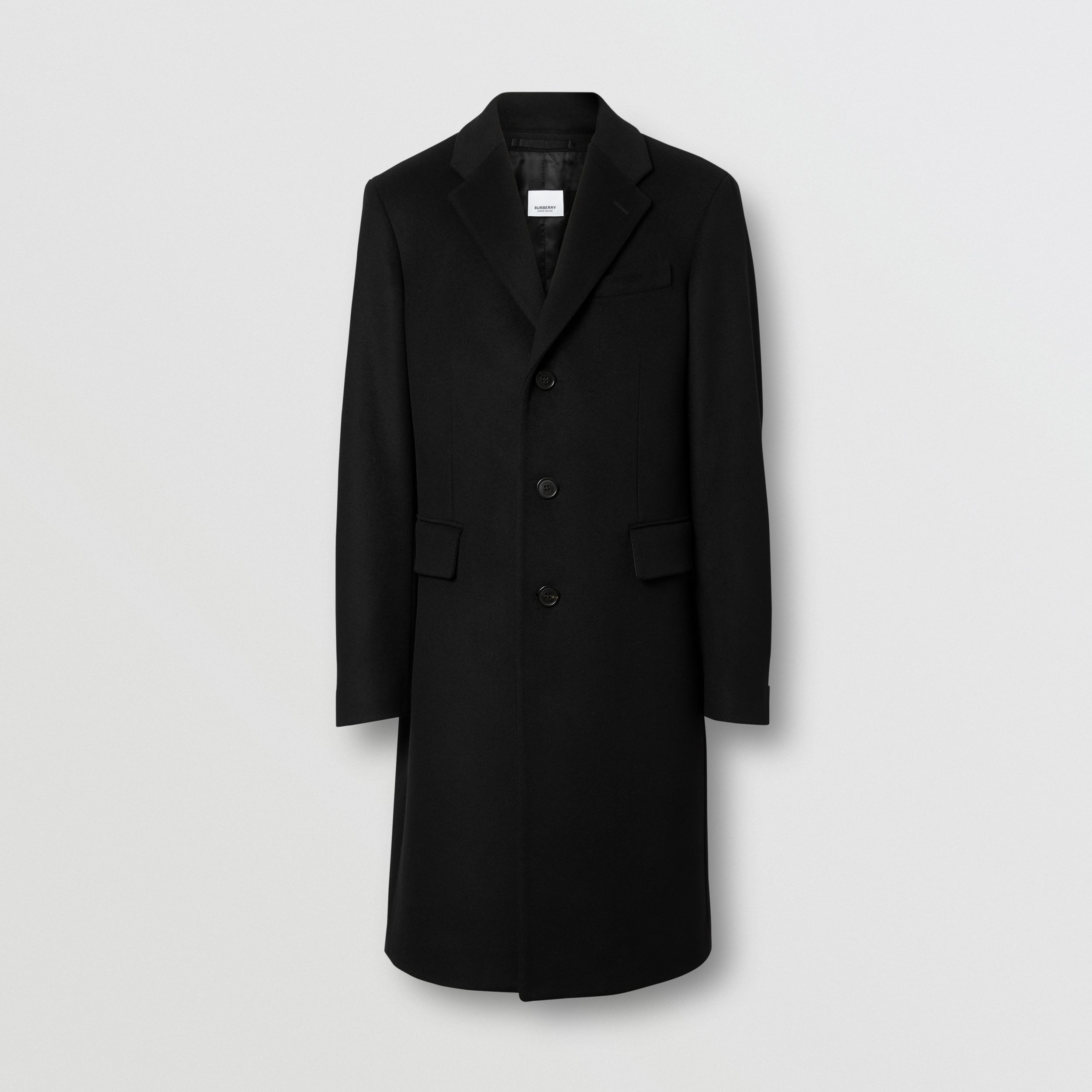 Wool Cashmere Tailored Coat in Black - Men | Burberry United States - 4