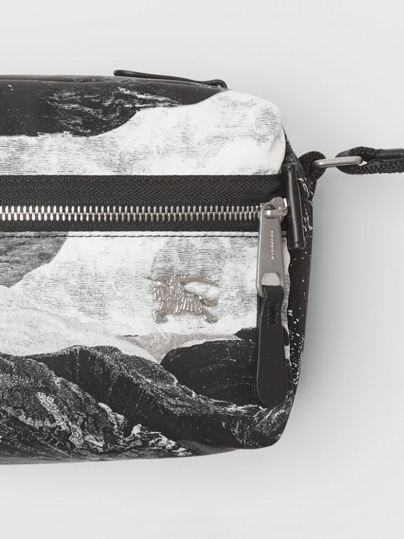 EKD Dreamscape Print Aviator Nylon Crossbody Bag in Black/white - Men | Burberry - cell image 1