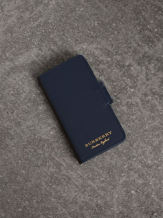 Trench Leather iPhone 7 Case in Ink Blue