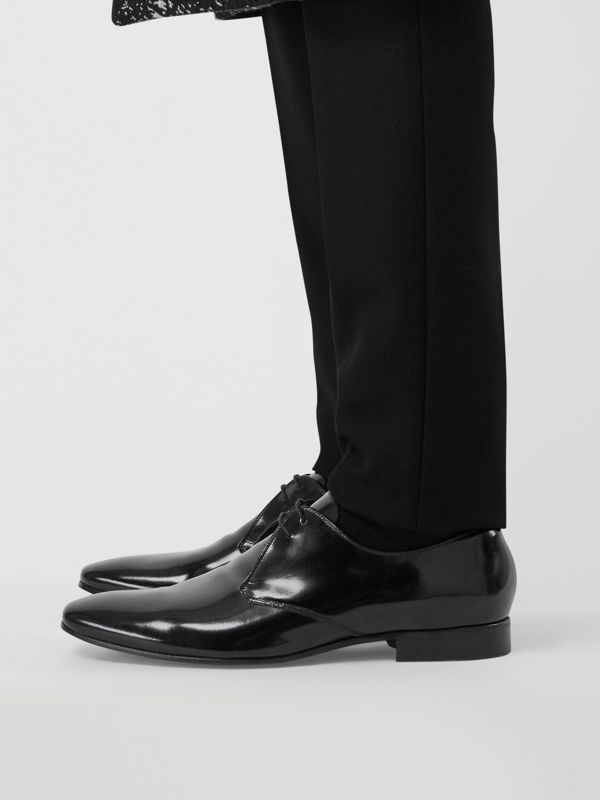 Polished Leather Lace-up Shoes in Black - Men | Burberry United Kingdom - cell image 2