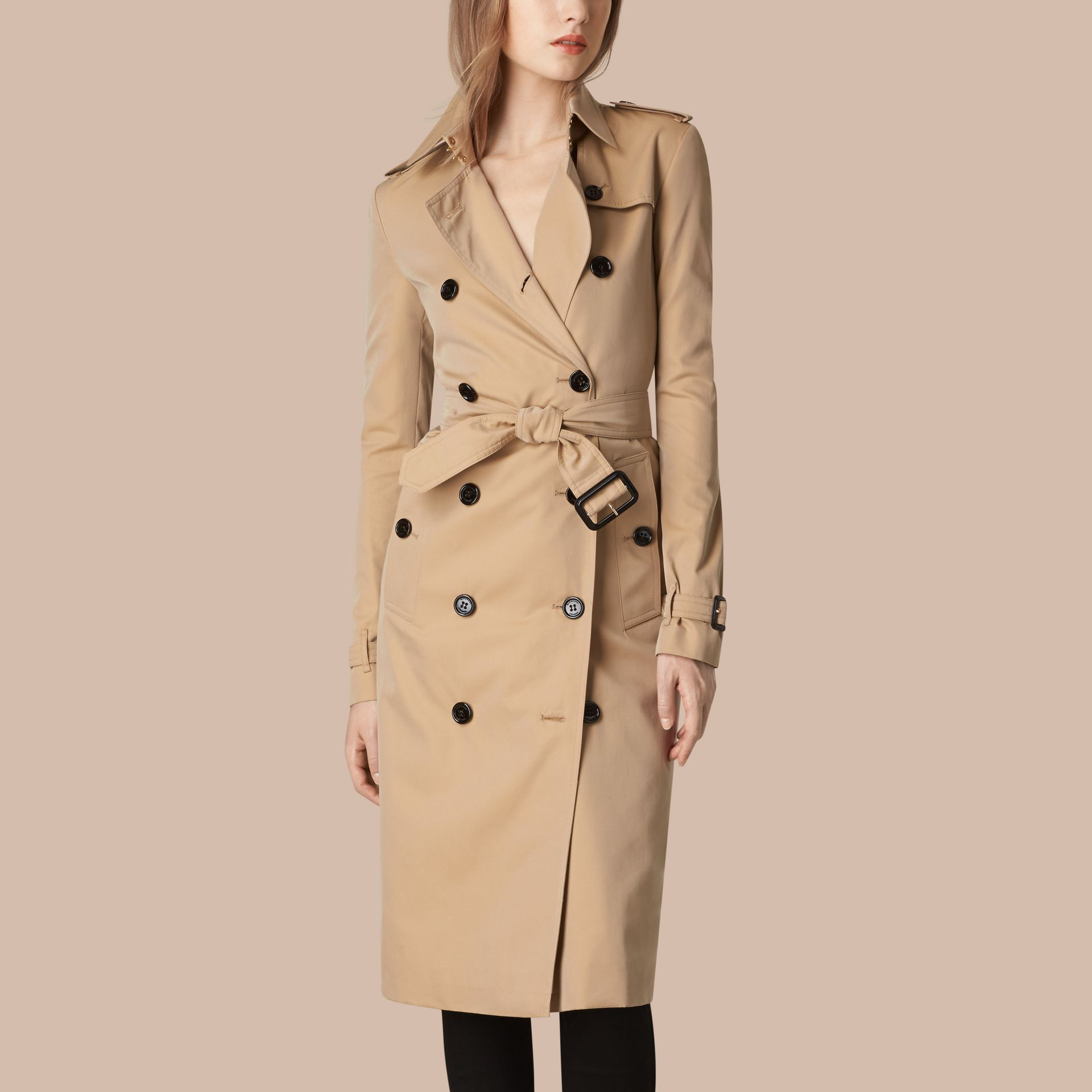 Trench-coat en gabardine de coton - Femme | Burberry - photo de la galerie 4