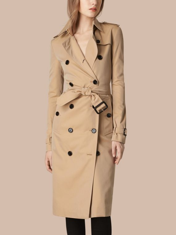 Cotton Gabardine Trench Coat - Women | Burberry - cell image 3