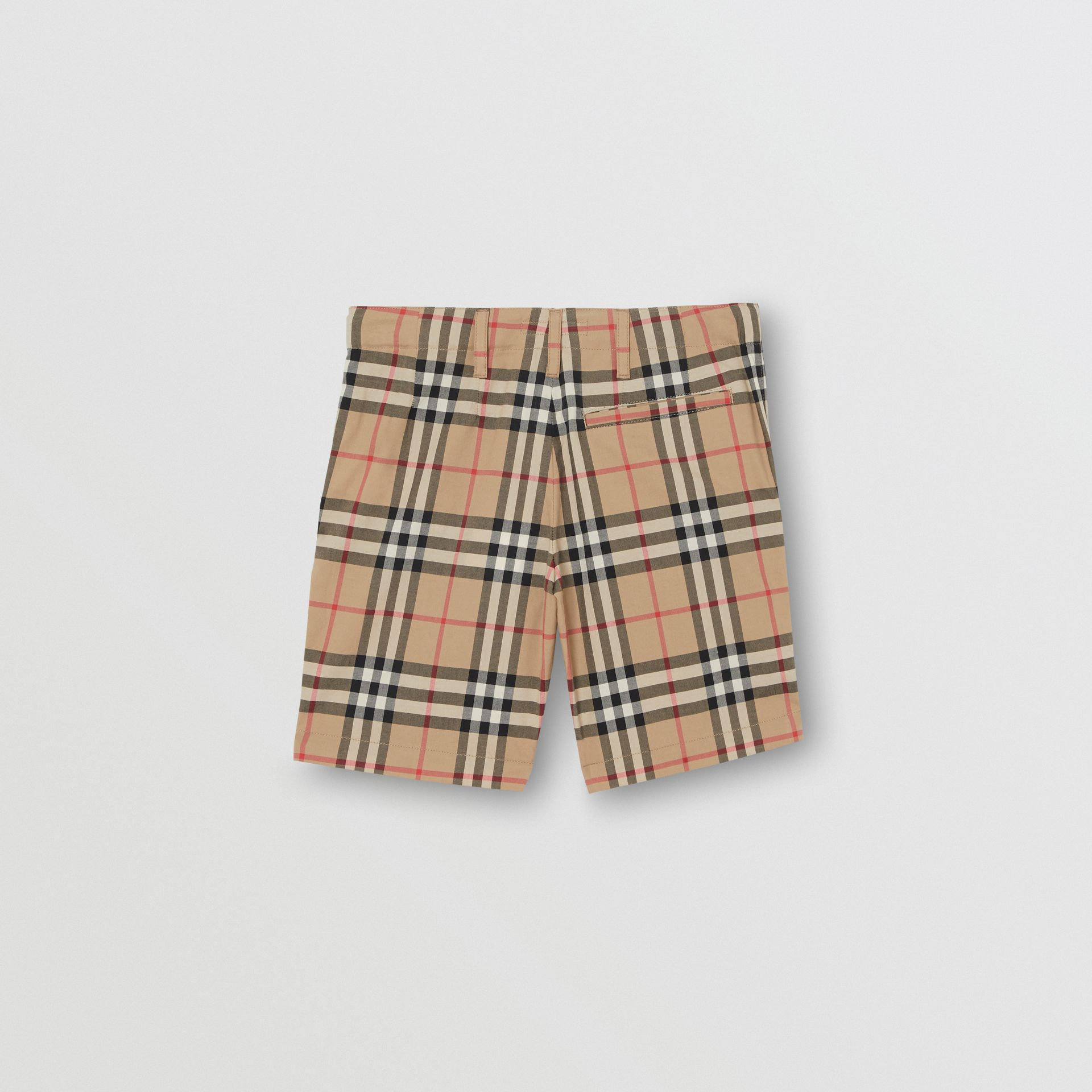 Vintage Check Cotton Tailored Shorts in Archive Beige - Children | Burberry - gallery image 3