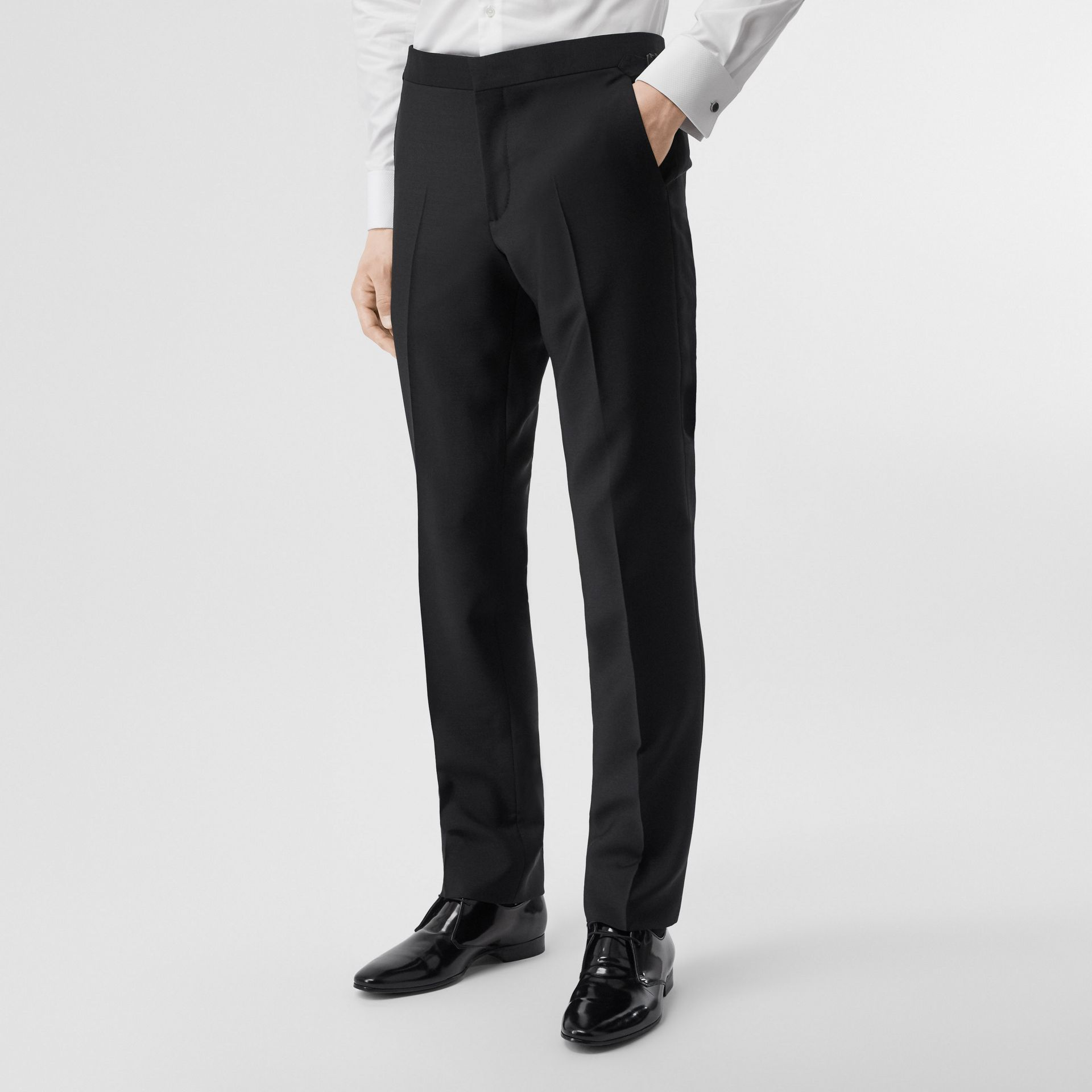 English Fit Mohair Wool Tuxedo in Black - Men | Burberry - gallery image 6