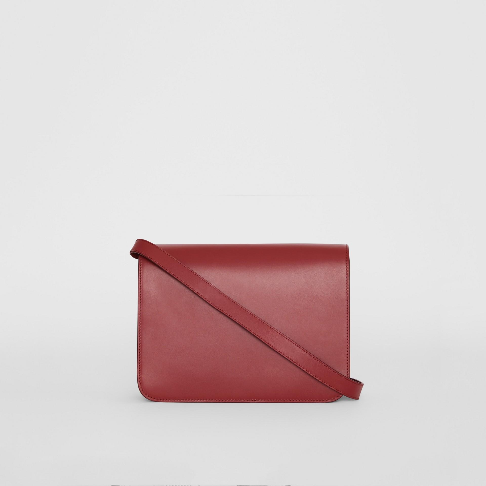 Medium Leather TB Bag in Crimson - Women   Burberry United States - gallery image 7