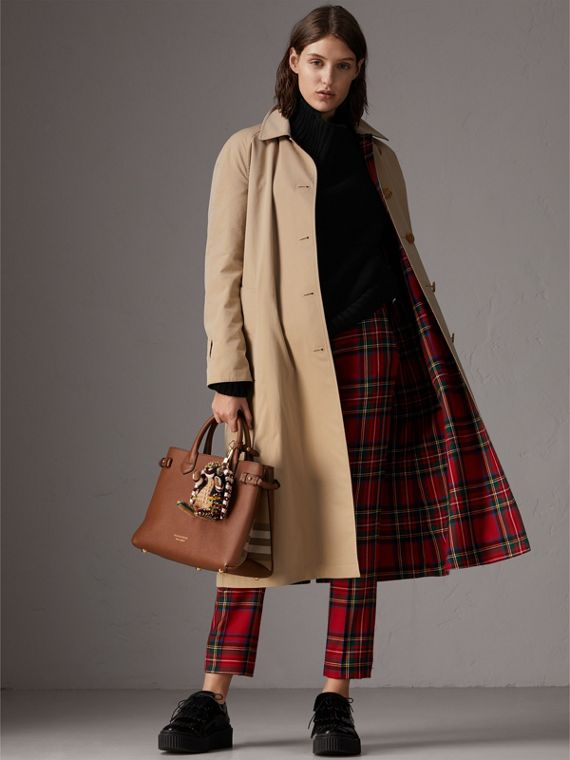 The Medium Banner in Leather and House Check in Tan - Women | Burberry United Kingdom - cell image 2